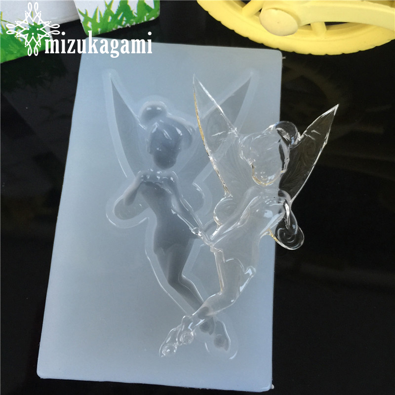 1pcs UV Resin Jewelry Liquid Silicone Mold Dance Girl Angel Elves Resin Charms Molds For DIY Intersperse Decorate Making Jewelry