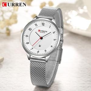 Image 5 - Curren Watch Blue Gold Women Watches Analog Quartz Ultra thin Stainless Steel Sport Women Watches Waterproof Ladies Watch Saat