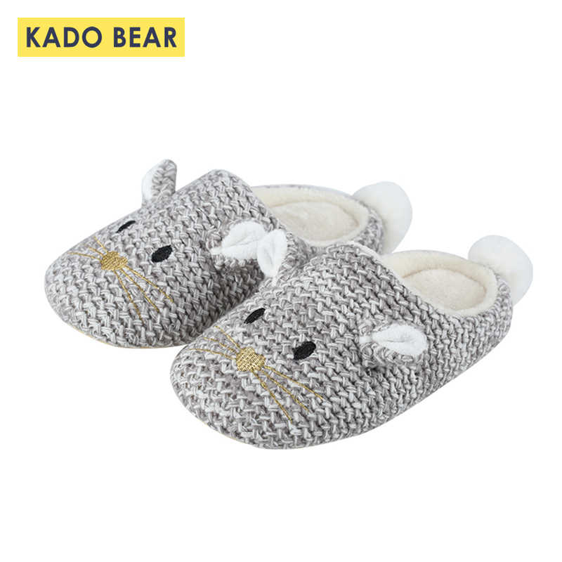 Children Family Fur Plush Winter Warm Slippers Women Girls Toddler Boys Household Men Slipper Kids Cartoon Indoor Home Shoes