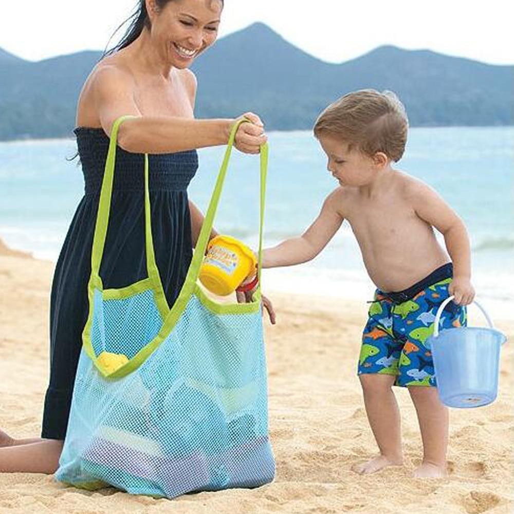 Детская песок от пляжа Сетка Пляжная Сумка Игрушечные лошадки одежда Полотенца сумка Детские игрушки