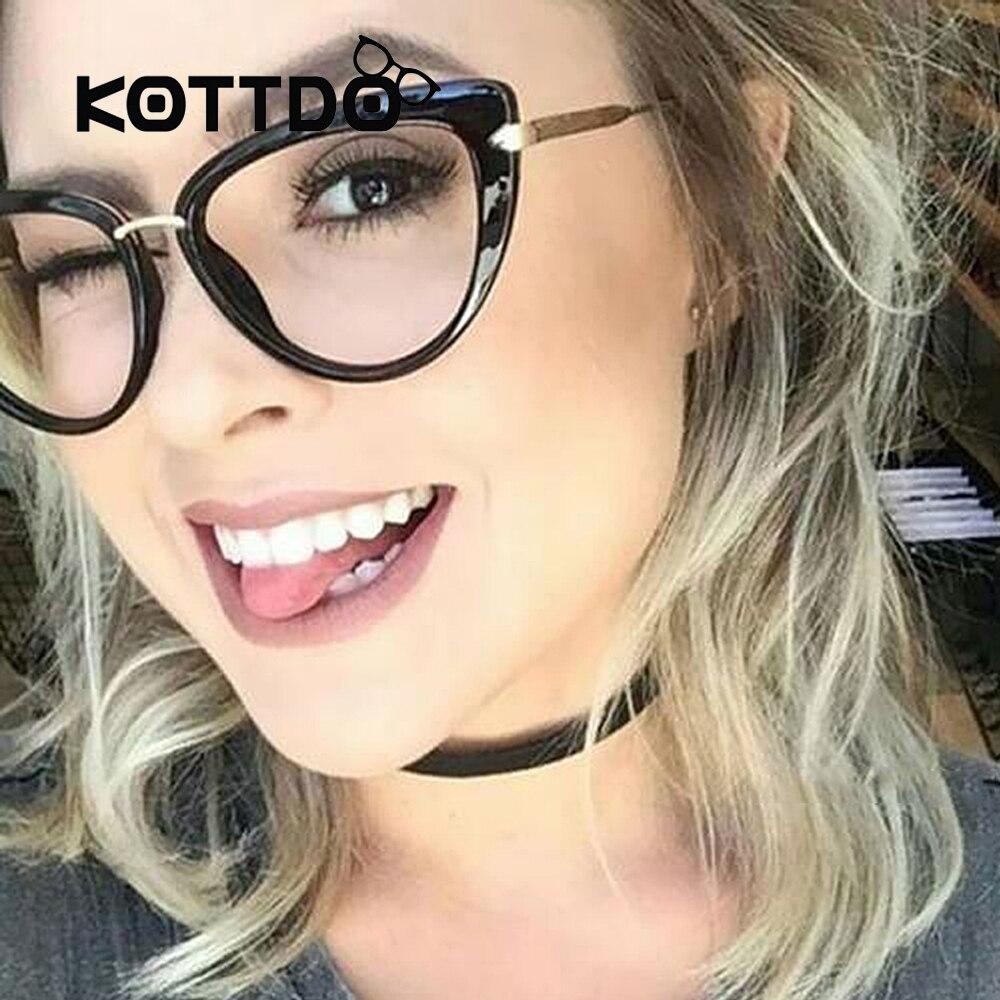 Metall Brillen Katzenauge Frames brillen Frauen Trendy Designer ...