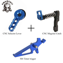 Trigger Magazine-Release-Catch-Suit Paintball Airsoft Hunting-Accessories for AEG M4/m16-Series