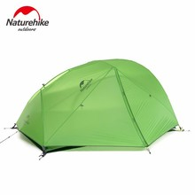 Фотография Naturehike 1-2 person Outdoor Tent Silicone Fabric Ultralight Double Layer Aluminum Rod waterproof Camping Tent travel hiking