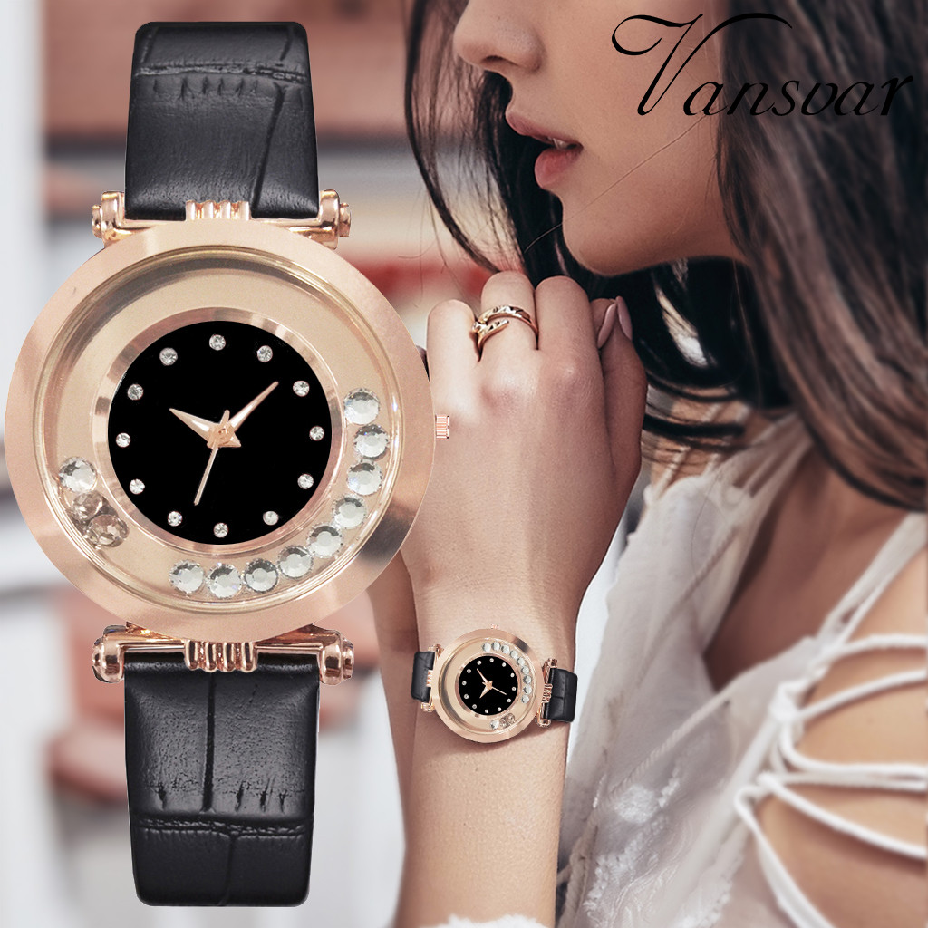 Vansvar Brand Leather Hot Sale Strap Style Quartz Women Watch Top Brand Watches Fashion Casual Fashion Wrist Watch Relojes 533