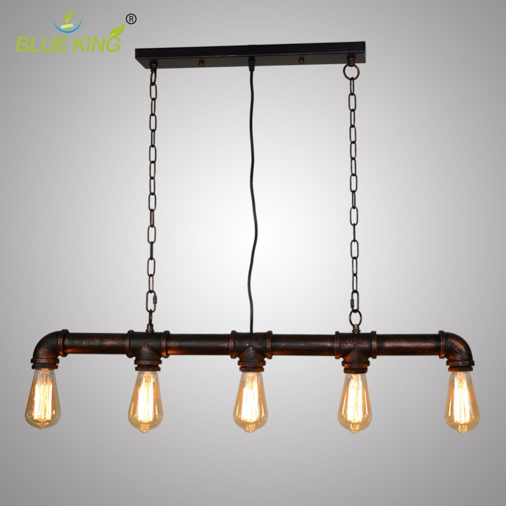 Современные промышленные Винтаж трубы подвесной светильник стимпанк лампа ретро металлические водопроводные трубы античный кованого жел...