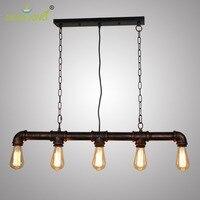 Современные промышленные Винтаж трубы подвесной светильник стимпанк лампа ретро металлические водопроводные трубы античный кованого жел