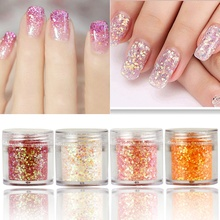 лучшая цена 1 Box Chunky Glitter Nail Sequins Iridescent Flakes Ultra-thin Tips Colorful Mixed Paillette Festival Glitter Cosmetic Face BE1