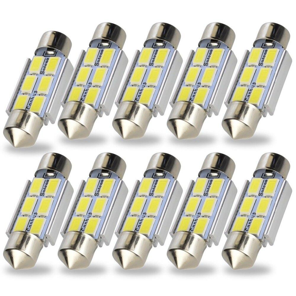 Safego 10X31 мм 36 мм 6 светодиодная гирлянда <font><b>CANBUS</b></font> 42 мм 9 SMD 5730 5630 интерьер автомобиля купол лампочки авто Номерной знак настольная лампа