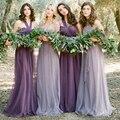 Não Da Noiva empregada doméstica das Noivas 2016 Hot dois ombro coral borgonha muitos colorido chiffon longo bridemaid vestido de festa da dama de honra vestidos