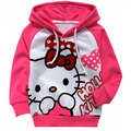 Fashion Spring Autumn hello kitty hoodies girl Hoodies Terry long sleeve cartoon Sweatshirt pure cotton girl clothes sport suit