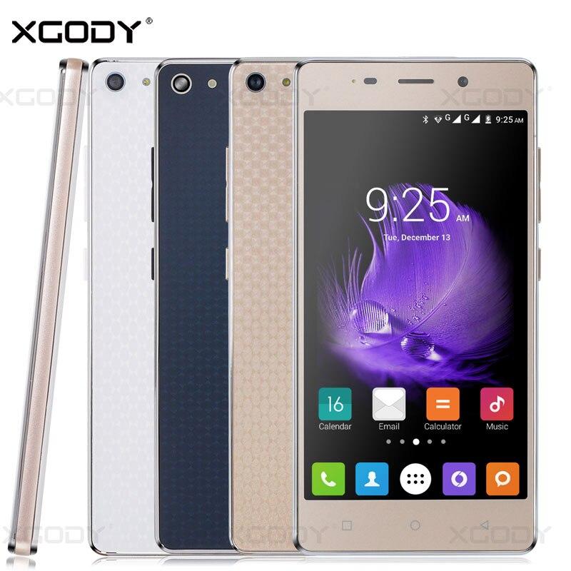 <font><b>Xgody</b></font> Smartphone 5 inches RAM 1GB+ROM 4GB Android 5.1 Quad Core Dual Sim Cards X18 Telefone Celular Cheap Unlocked <font><b>Cell</b></font> <font><b>Phone</b></font>
