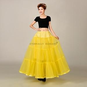 Image 5 - מכירה לוהטת טול חצאית רב צבע תחתונית ארוך לחתונה שמלות תחתוניות 2018 EE6639