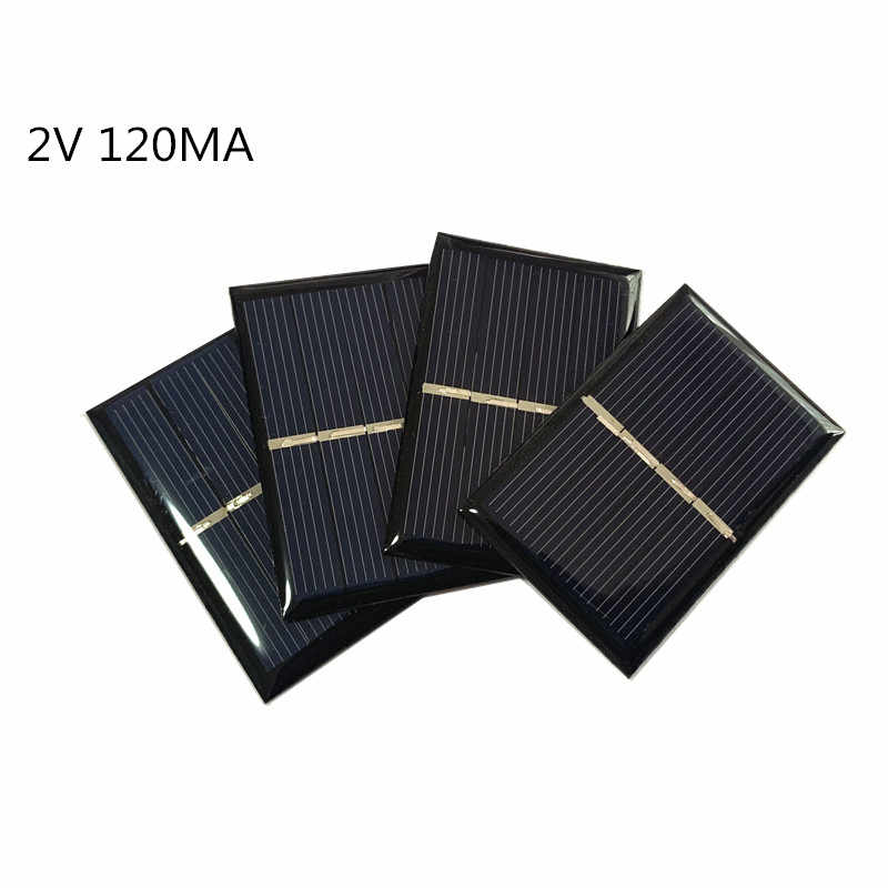 1pc Mini Poly Solar Panel 2V 130MA for Mini solar panel charging and generating electricity 58*38MM