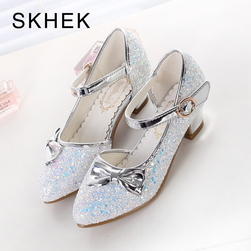 SKHEK Girls Sandals 2018 New Pearl Shoes Childrens High Heels Fashion Pointed Shoes Girls Dance Shoe Princess SandalsSKHEK Girls Sandals 2018 New Pearl Shoes Childrens High Heels Fashion Pointed Shoes Girls Dance Shoe Princess Sandals