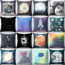 3D Galaxy Planet Night Pillow Cover Universe Outer Space Themed pillowcase Fashionable duvet cover flat Sheet For Home and Car(China)
