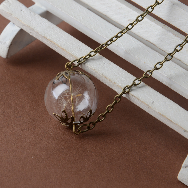 Cute Glass ball Vial Necklaces