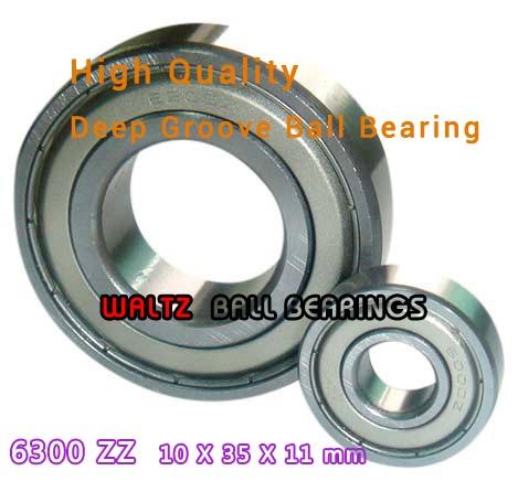 10x35x11 mm 10x 6300 ZZ Single Row Deep Groove Ball Bearings