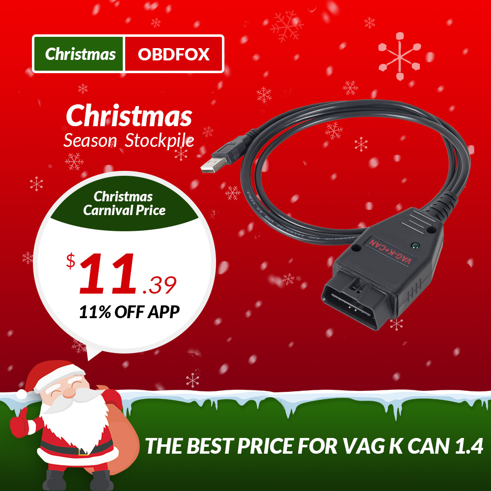 Vag k+can commander 1. 4 with ftdi ft232rl pic18f258 chip obd2.
