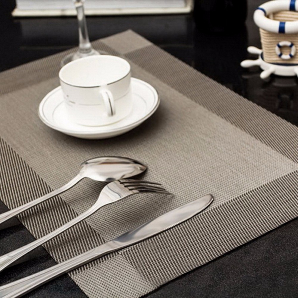 online buy wholesale restaurant place mats from china restaurant  -  pcs modern style dinning placemat pvc home dinning table restaurant placemat bowel pads dinning