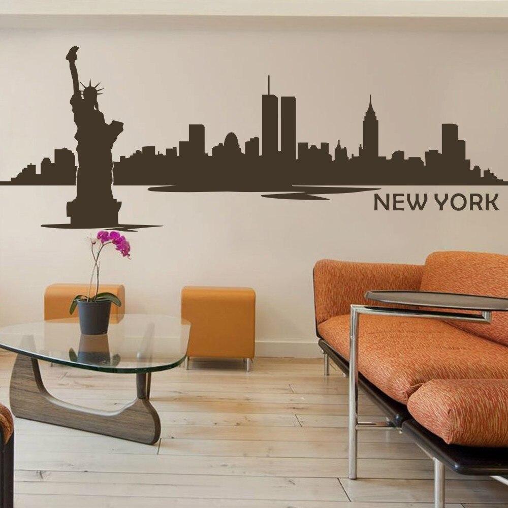 Erstaunlich New York Wandtattoo Beste Wahl City Die Freiheitsstatue Vinyl Kunst Aufkleber Big
