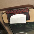 New Car Sun Visor Tissue Paper Box Auto Accessories Holder Napkin Clip PU Leather Container Storage Bag