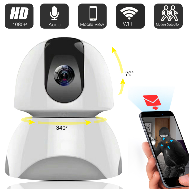 цена на 1080P HD WiFi IP Camera CCTV IP Security PTZ Cameras Alarm System For Wifi And GSM Sms Alarm System Yoosee 163eyes APP Control