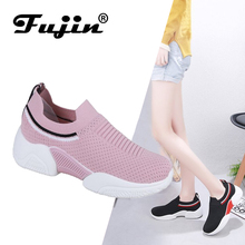 Fujin Brand 2019 Spring and Summer Fashion Casual Shoes Flat Mesh Breathable Lightweight Sports