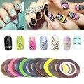 30 unids Multicolor Rollos Trazado de Líneas de Cinta Del Clavo de DIY Art Decoraciones Consejos de Belleza UV Gel Nails Pegatinas