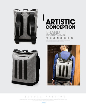 New Fashion Men Business 15.6 inch Laptop Backpack Canvas School Travel Unisex Bag for 15.6 inch Asus A556UF bag