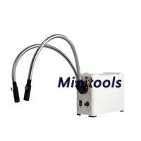 100V 240V Dual Gooseneck Cool Lights Microscope Illuminator 10W LED Fiber Optic Dual Gooseneck Lights Microscope Illuminator