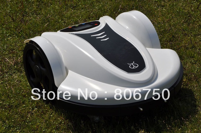 2013 Newest Brand 100mVirtual Wire&100pcsPegs 158N Lithiumbattery Robot Lawn Mower With  Password,Schedule and Subarea Setting