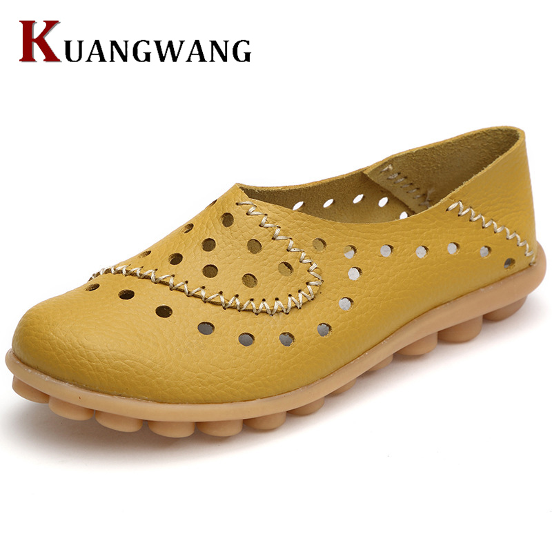 Genuine Leather Woman Loafers New Fashion Women Flat Shoes Female Casual Soft Mother Comfortable Loafers Casual Women's Shoes fashion brand genuine leather shoes for women casual mother loafers soft and comfortable oxfords lace up non slip flat moccasins