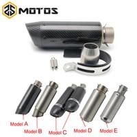 ZS MOTOS 35 51mm Motorcycle Exhaust Muffler SC GP Escape Exhaust Mufflers Carbon Fiber Exhaust Pipe For HONDA R1 R3 R6 FZ6 ATV
