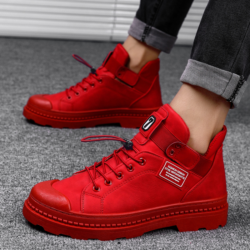 Unisex Sneakers Men Skateboarding Shoes Women Sport Shoes Super Star Zapatilla Stan Outdoor Trainer Athletic black/red Shoes