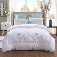 Queen King size 100% Nature Cotton Comforter Warm Soft Duvet cover filler White Pink Quilted bedding Throw Blanket set