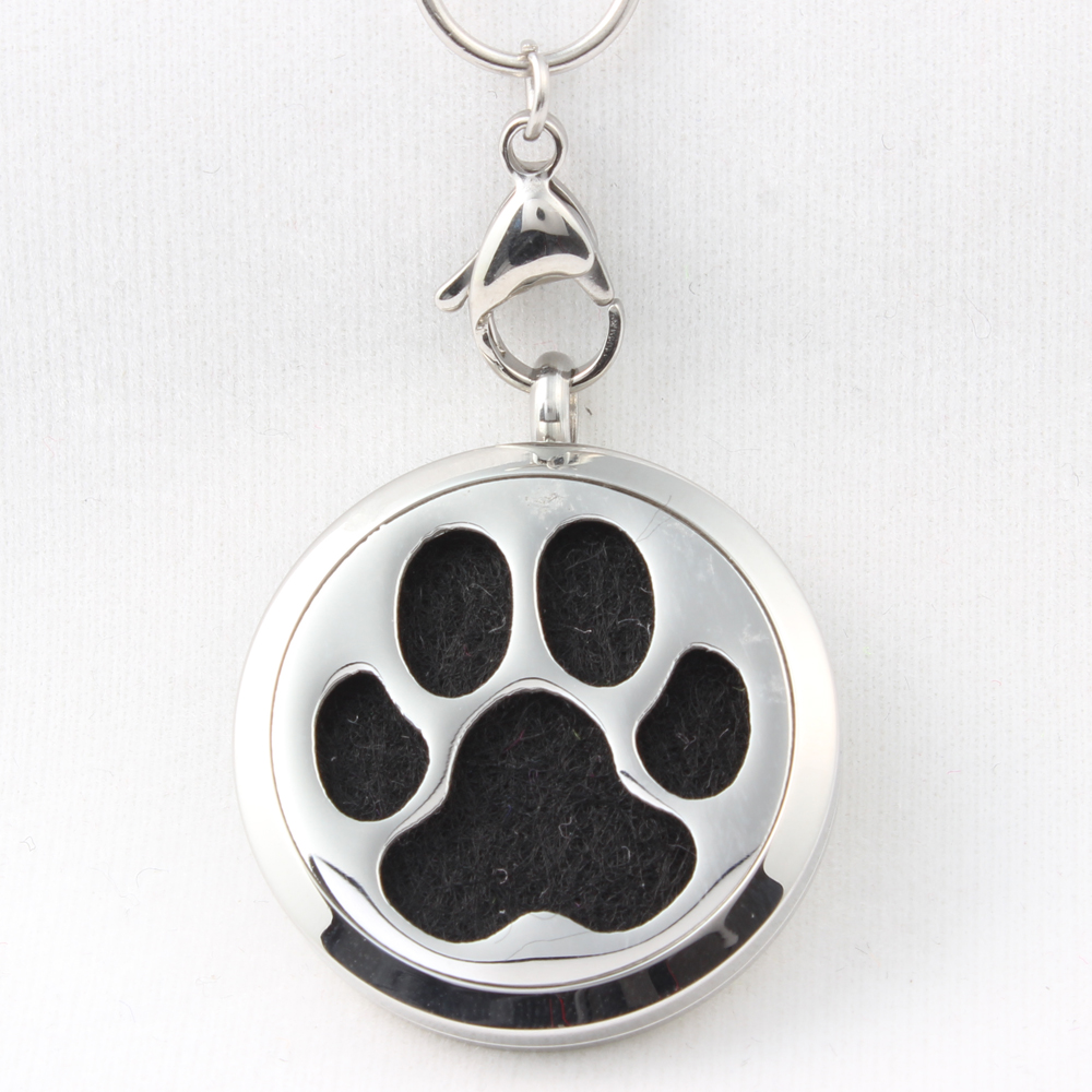 silver keepsake print puffed two paw pendant necklace paws sterling product prints pet tm lockets heart cremation