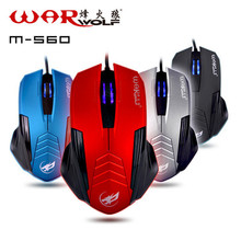 Warwolf Gaming Computer USB Wired Mouse Colorful 4D Ergonomic Design Professional Mice Gamer For PC Desktop1600 DPI  M-560