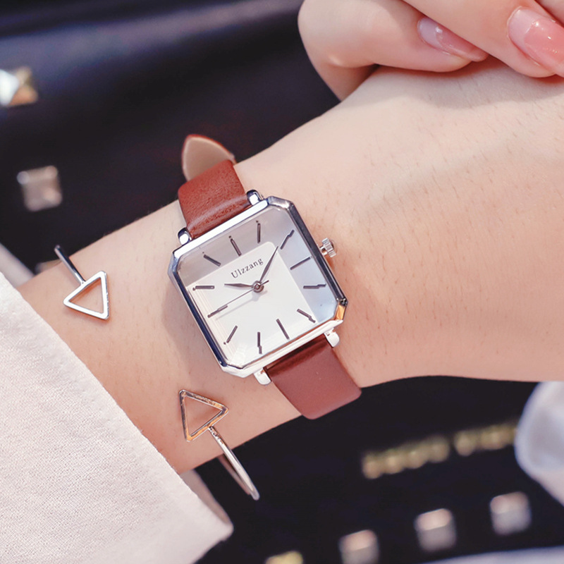 Square Dial Designer Women's Fashion Retro Watches Simple Stylish Ulzzang Brand Quartz Ladies Wristwatches Relogio Feminino