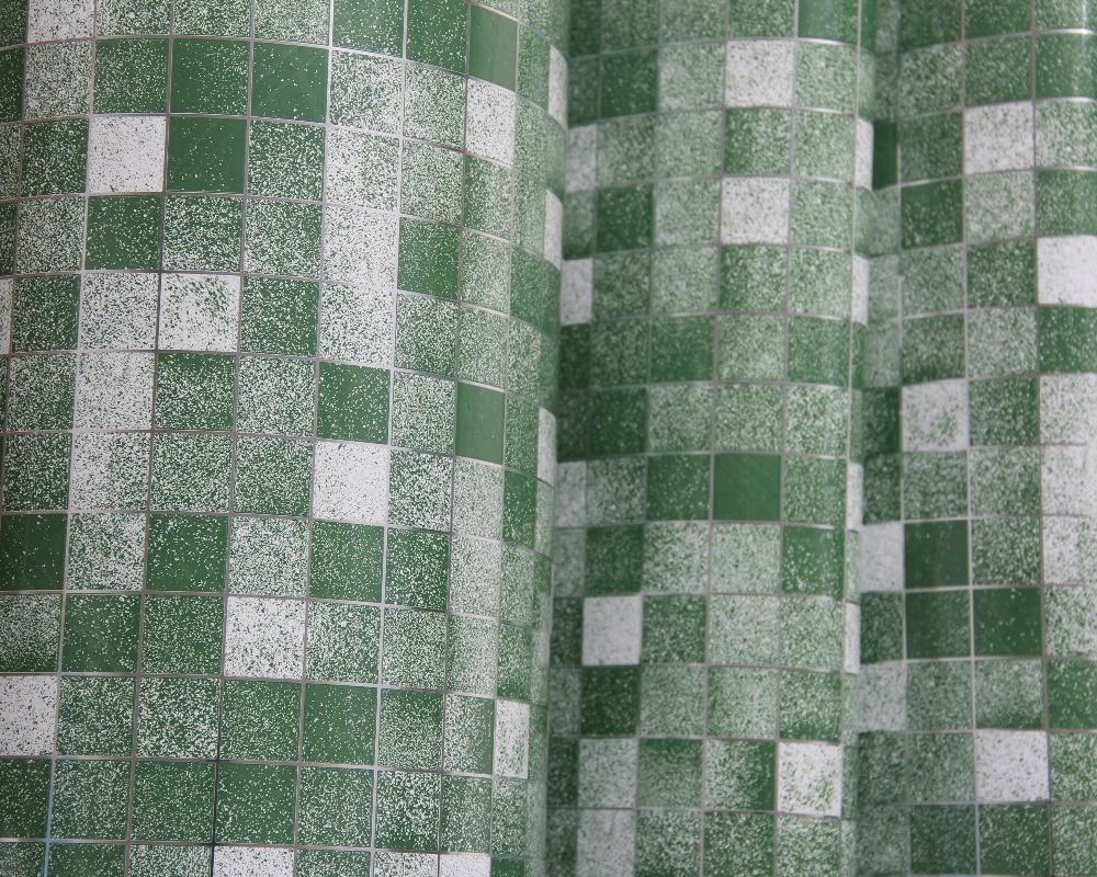 2 մետր / գլան սպիտակ վինիլային սալիկ - Տնային դեկոր - Լուսանկար 1