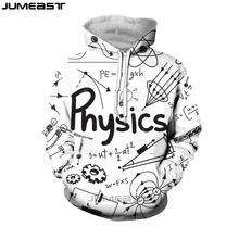 Jumeast Fashion 3D Print Funny Physics Math Formula Men/Women Black White Hoodies Sweatshirt Long Sleeve Hip Hop Sport Pullover