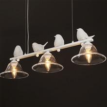 TUDA crstal glass chandeliers three birds chandelier for living room dining room balcony white resin bird statue chandeliers