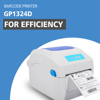 Barcode printers clothing label 203dpi Support 108mm Width printing electronic surface by thermal bar code printers For GP1324D