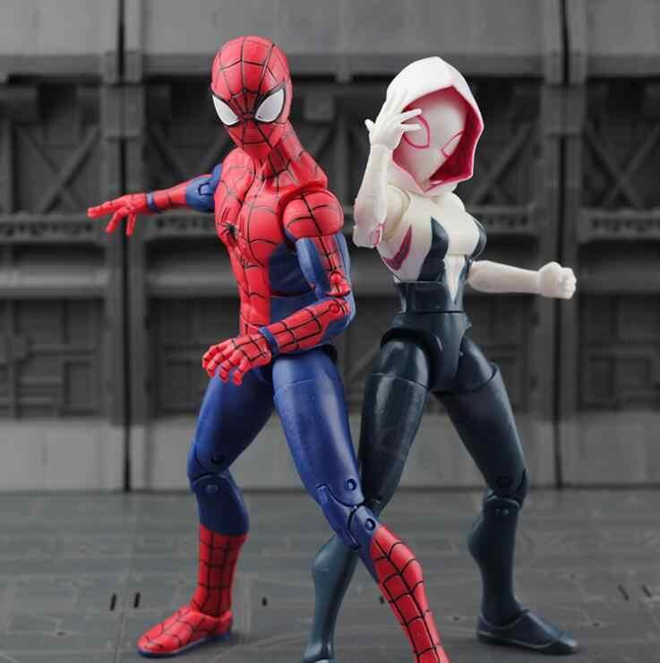 Подлинные Мстители Marvel Бесконечность войны Железный паук фигурка Человек-паук Черная пантера Железный человек фигурка Коллекционная модель игрушки 7''