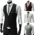Free Shipping  Men's vest Elegant fashion men faux slim vest, ,4color,4size,dropshipping AH03
