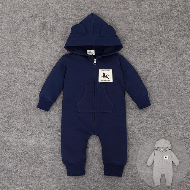 Cremallera bebé Mamelucos Recién Nacido Con Capucha Pijamas de Manga Larga Outwear Ropa para Niños y Niñas de Otoño e Invierno Niños Coat General