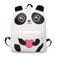 Cute Korean Harajuku School Bag Female Student Girl Cartoon Panda Laptop Backpack Fashion Travel Backpack