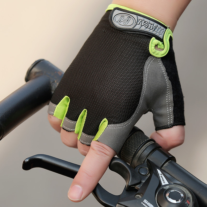 man outdoor Cycling Sports gloves off-road bicycle Career mountain bike palms thickened wear-resistant Upgrade half finger glove