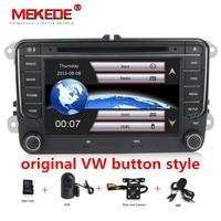 В наличии 7 дюймов Сенсорный экран 2din автомобильный DVD для Volkswagen Golf, Volkswagen Polo Jetta Passat Tiguan с gps Bluetooth fm радио USB SD рулевое колесо