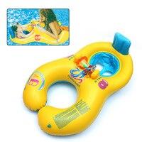 Мама Дети безопасные надувные кольцо круг плавательный бассейн надувные колеса ребенка плавать пляжные аксессуары Swimtrainer купальный круг
