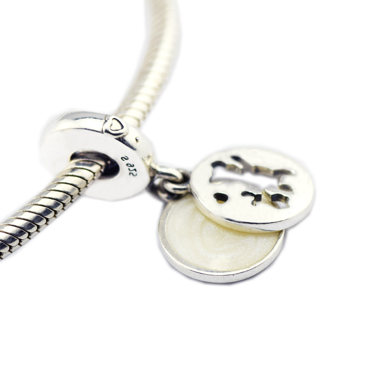 59c6192a9 Fits Original Charms Bracelets 925 Sterling Silver Perfect Pals Dangle Charm,  Silver Enamel Beads for Jewelry Making Berloque-in Beads from Jewelry ...